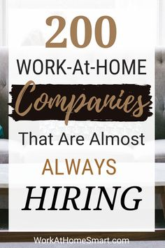 Looking for legitimate work from home jobs that pay well? Here is a collection of over 200 companies that are hiring for stay at home jobs. Start earning with these high paying online jobs. Work From Home Companies, Online Jobs From Home, Work From Home Opportunities, Career Opportunities, Online Work, Legit Work From Home, Legitimate Work From Home, Work From Home Tips, Work At Home Jobs