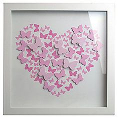 Pink 3D Butterfly Box Frame