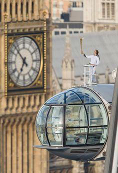 Olympic Torch in London! Explorer Amelia Hempleman-Adams...