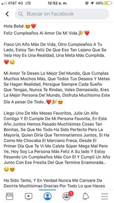 Cabellera Tutorial and Ideas Love Boyfriend, Gifts For My Boyfriend, Cute Relationship Texts, Cute Relationships, Love Phrases, Love Words, Amor Quotes, Love Quotes, Happy Birthday Text