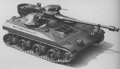T92 Light Tank - was an innovative American light tank developed in 1950s by Aircraft Armaments. At 18.5 tonnes, 5m length, it was designed as an airborne/airdropped replacement for the 5 tonnes heavier M41 Walker Bulldog. The T92 was never accepted into service.