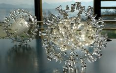 Luke Jerram - glass sculptures of viruses http://www.lukejerram.com/glass/