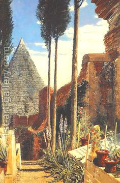 William Bell Scott's interpretation of Percy Shelley's grave in the Protestant Cemetery, Rome.