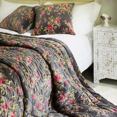Graham and Green Vintage Floral Bedding Collection - for layering with something less girly!