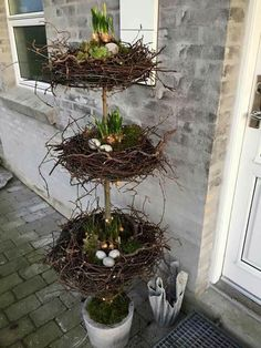 Tri-Level Easter Egg Nest Topiary