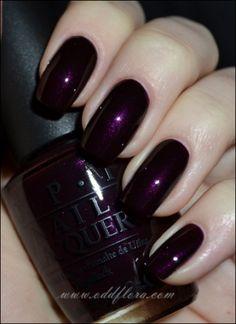 oddflora, nails, nail polish, purple, purple nails, purple nail polish, swatch, opi, opi eiffel for this color