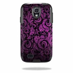 MightySkins Protective Vinyl Skin Decal Cover for OtterBox Commuter Samsung Galaxy S4 Case Sticker Skins Purple Style MightySkins