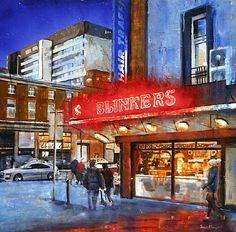 Tonight (Illuminated) by Francis McCrory Belfast City Centre For sale www. Belfast City Centre, Irish Art, Contemporary Paintings, Dublin, Art Gallery, Neon Signs, Sculpture, Fine Art, Landscapes