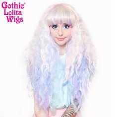 Gothic Lolita Wigs® <br> Rhapsody™ Collection - Pastel Rainbow -00470