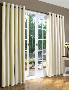 Ascot Solid Cotton Grommet Top Curtain (Set of 2)