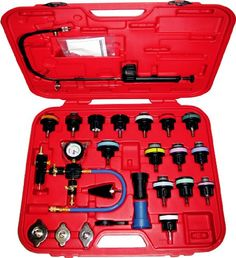 Master Cooling Radiator Pressure Tester with Vacuum Purge and Refill Kit: Allows quick and easy testing for leakage in radiator system and quick change of coolant