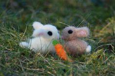 Tiny Needle Felted Baby Bunny Your Choice by BondurantMountainArt