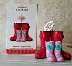 Hallmark Like Mom Like Daughter Christmas Ornament 2017 Rainboots #Hallmark