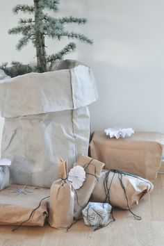 Bolsas de papel y craft al mas puro estilo nórdico