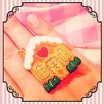 Gingerbread House Christmas Ring - by WildPipchicks on madeit