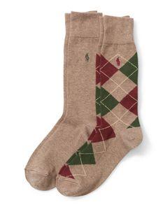 Argyle Trouser Sock 2-Pack - Polo Ralph Lauren Casual - RalphLauren.com