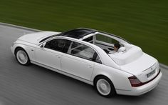 #15 Maybach Landaulet: $1.4 million  A car built around luxury and not speed happens to be the most expensive 4-door sedan. The limousine-like Landaulet comes with a convertible roof that opens in the rear. Accessories include: hand-polished champagne flutes, a rear-seat refrigerator, an automatic partition between driver and passenger, and an intercom system between the front and rear!