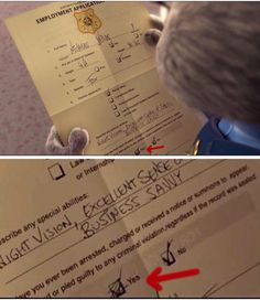 Employment Application of police officer in Zootopia ~ Nick Wilde screts ~ Judy Hopps sad ~ Zootopia ~ ZPD Zootopia Nick Wilde, Zootopia Nick And Judy, Zootopia Meme, Zootopia Quotes, Disney And Dreamworks, Disney Pixar, Walt Disney, Punk Disney, Disney High