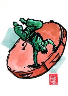 Encres : Capoeira – 492 [ #capoeira #watercolor #illustration]