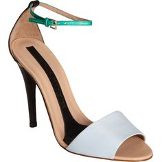 Narciso Rodriguez Stiletto Ankle Strap Sandal ($795) via Polyvore