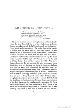 The Homes of Our Ancestors in Stonington, Conn - Grace Denison Wheeler - Google Books