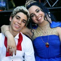 Sofia Carson and Cameron Boyce in Descendants