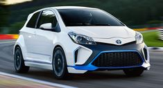 Toyota has unveiled a new concept car called the Yaris Hybrid-R concept at the Frankfurt auto show. The car marks Toyota's first entry into high-performance hybrids for road car application. Toyota Dealers, Thing 1, Sub Brands, Toyota Cars, City Car, Twin Turbo, Toyota Corolla, Car Pictures, Motor Car