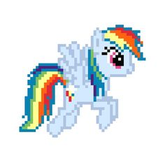 My little bro is a brony and his favorite pony is rainbow dash. I want to get on our minecraft server sometime and surprise him with pixel art.