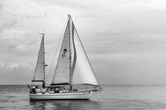 Segelschiff in Cuxhaven, Nordsee