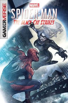 Marvel Jumping-On Points: January 2020 Edition. Marvel's Spider-Man: The Black Cat Strikes cover by Sana Takeda. Spiderman Black Cat, Black Cat Marvel, Spder Man, Miss Hulk, Marvel Games, Old Flame, Wordpress, Marvel Series, Spider Verse