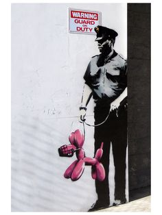 Banksy Police Guard by ICanvasART - Gilt Home