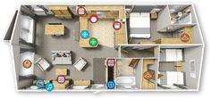 Willerby Portland 2016 40x20 2bed Floor plan