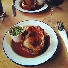 Pie, mash, and mushy peas at Redhouse.Nestled underneath the span of the Tyne Bridge, this small pub in one of the oldest buildings in Newcastle does one thing, but does it well: pies. The stout, ale, mince, and onion is superb.