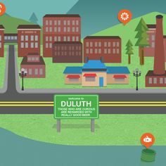 Website design for Duluth, MN's Canal Park Brewing Co., created by Joyce. Splash Page, Brewing Co, Baseball Field, Family Guy, Website, Park, Shabby Chic, Beer, Illustration