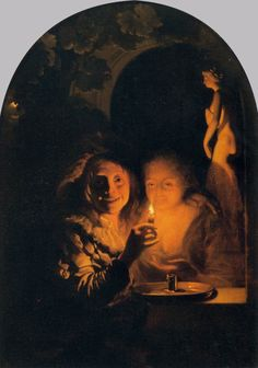 Lovers Lit by a Candle (Godfried Schalcken - 1660s)