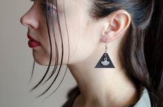 Excited to share the latest addition to my #etsy shop: Leather earrings, triangle leather earrings, boho earrings , classic style, fan earrings https://etsy.me/2zHzre3 #jewellery #earrings #black #boho #leather #girls #geometric #triangle #earlobe
