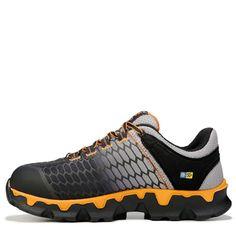 Timberland Pro Men's Powertrain Sport Medium/Wide Alloy Toe Work Shoes (Grey/Black)