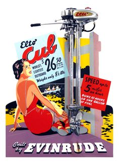 Elto Cub Outboard Motor and Advertising Display, 1939