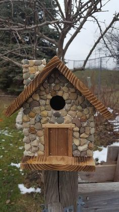Check out this item in my Etsy shop https://www.etsy.com/listing/580603995/birdhouse-rustic-cabin-with #birdhouseideas #birdhousetips
