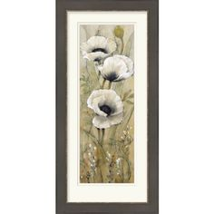 Surya White Poppies I by OToole, Tim 23 x Botanical and Floral Wall Art Acrylic Canvas, Canvas Art, Floral Wall Art, Metal Wall Art, Framed Art, Modern Art, Graphic Art, Wall Decor, Art Prints