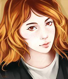Portrait of blonde hair girl by Yu-koi.deviantart.com on @DeviantArt