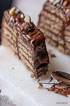 Tarta de chocolate y galletas Cookie Desserts, No Bake Desserts, Mexican Bread, Spanish Desserts, Vegan Junk Food, Chocolate Treats, Galletas Chocolate, Sugar Cravings, Thanksgiving Desserts