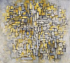 Tableau No. VII by Piet Mondrian, Guggenheim Museum Solomon R. Guggenheim Museum, New York Solomon R. Guggenheim Founding Collection © 2007 Mondrian/Holtzman Trust Medium: Oil on canvas Wassily Kandinsky, Georges Braque, Claude Monet, Cubist Paintings, Frank Stella, Dutch Painters, Manet, Monochrom, Art Plastique