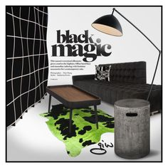 """black magic..."" by ian-giw ❤ liked on Polyvore featuring interior, interiors, interior design, home, home decor, interior decorating, Meghan Los Angeles, Naula, Sprout and Urbia"