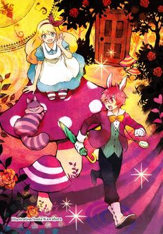 Alice in Wonderland. Why is there a PINK rabbit instead of a WHITE ONE?!