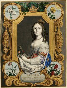 Marie Louise Gonzaga by Jeremias Falck, ca. 1645 (PD-art/old), Herzog Anton…
