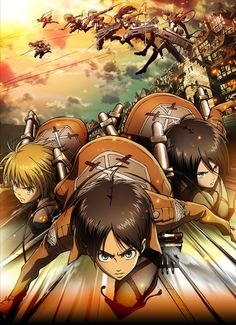Attack on Titan one of the new amines I've been watching :) absolutely love it!