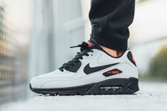 sale retailer 96ce9 ee41a nike-air-max-90-essential-grey-black-red-2