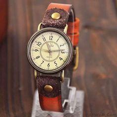 Fashion Classical Quartz Cortical Leather Waterproof Wrist Watch #retro #fashion #watch