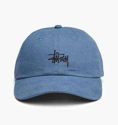 Stussy Basic Logo Low Pro Cap - Blue by Slowatch Concept Store
